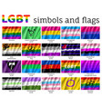 set symbols flags lgbt movement vector image
