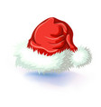 single santa claus red hat isolated on white vector image