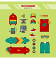Skateboarding Kit Urban Lifestyle Set vector image