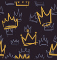 sketch crown pattern seamless print texture girl vector image vector image