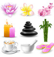 SPA objects set vector image vector image
