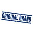 square grunge blue original brand stamp vector image vector image