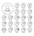 status icon man icon with several added vector image