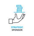 strategic sponsor concept outline icon linear vector image