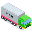 transport with inscription store delivery truck vector image