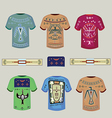 Tshirts with Indian ornaments vector image vector image