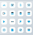 user icons colored set with exit attach list and