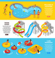 water park banners set vector image vector image