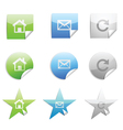 web 20 stickers set vector image