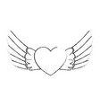 wings open isolated icon vector image vector image