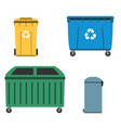 thrash and recycling can garbage container set vector image