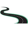 isolated black asphalt roads and roadsides vector image