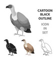 vulture icon in cartoon style isolated on white vector image
