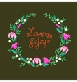 a wreath with flowers vector image vector image