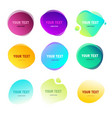 abstract round shapes for your text gradient vector image vector image