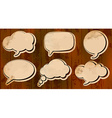 Aged cut out speech bubbles vector image vector image
