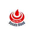 blood drop icon for donor day vector image