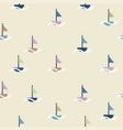 boat sail doodle pattern vector image