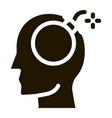 bomb dynamite man silhouette headache glyph icon vector image vector image