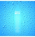 Bottle and water drops vector image vector image