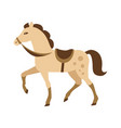cartoon horse isolated white vector image