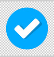 check mark icon in flat style ok accept on vector image