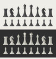 chess pieces flat icons vector image vector image