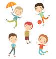 cute boys vector image vector image
