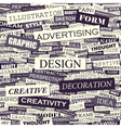 design background concept wordcloud graphic vector image vector image
