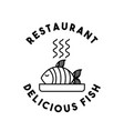 dish fish restaurant menu vector image vector image