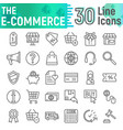 e-commerce line icon set shopping symbols vector image vector image