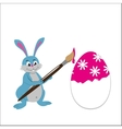 easter bunny paint egg vector image vector image