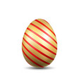 easter egg 3d icon gold egg isolated white vector image vector image