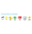evolution money flat style design vector image