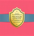 exclusive premium quality golden label stamp award vector image vector image