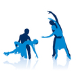 Figure skaters silhouettes vector image
