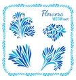 floral elements and frames set vector image