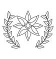 flower wreath floral decoration ornament vector image vector image