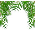 frame with palm leaf background isolated vector image vector image