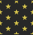gold glitter stars seamless pattern vector image vector image