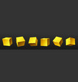 gold metal shiny cubes set realistic vector image