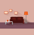 home lounge interior living room furniture with vector image vector image