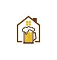 house beer logo icon design vector image