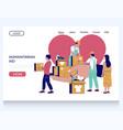 humanitarian aid website landing page vector image