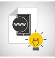 idea code web program smartphone vector image