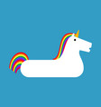 inflatable unicorn isolated magic beast toy for vector image