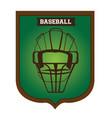 isolated baseball emblem vector image vector image