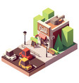 isometric vape shop vector image