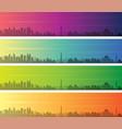 jakarta multiple color gradient skyline banner vector image vector image