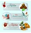 Japan Travel Banner Set vector image vector image
